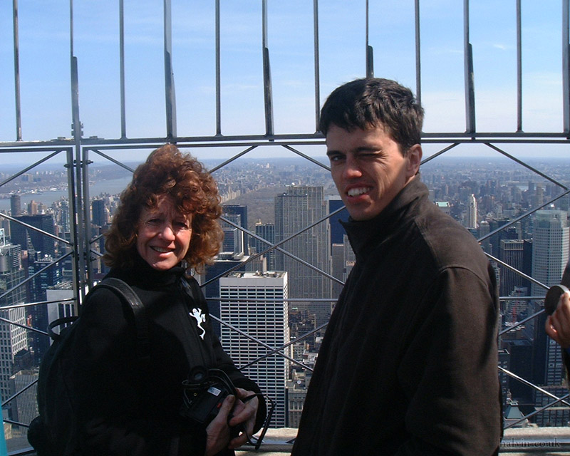 New York, April 2001 - Mum and my bro on the Empire State Building.