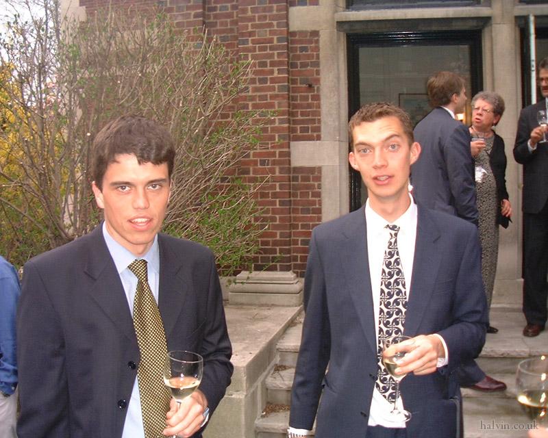 New York, April 2001 - Tom and Nate Budd.