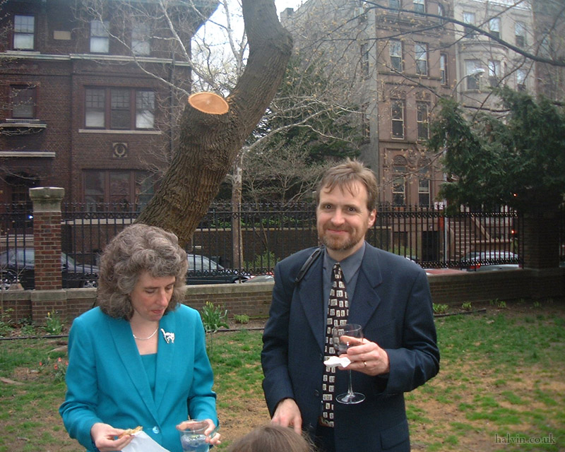 New York, April 2001 - Stephanie and Chris Pollard.