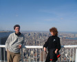 New York, April 2001 - Me and my mum at the top of the World Trade Center.