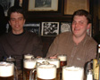 New York, April 2001 - Having a few beers in one of New York's historical pubs.