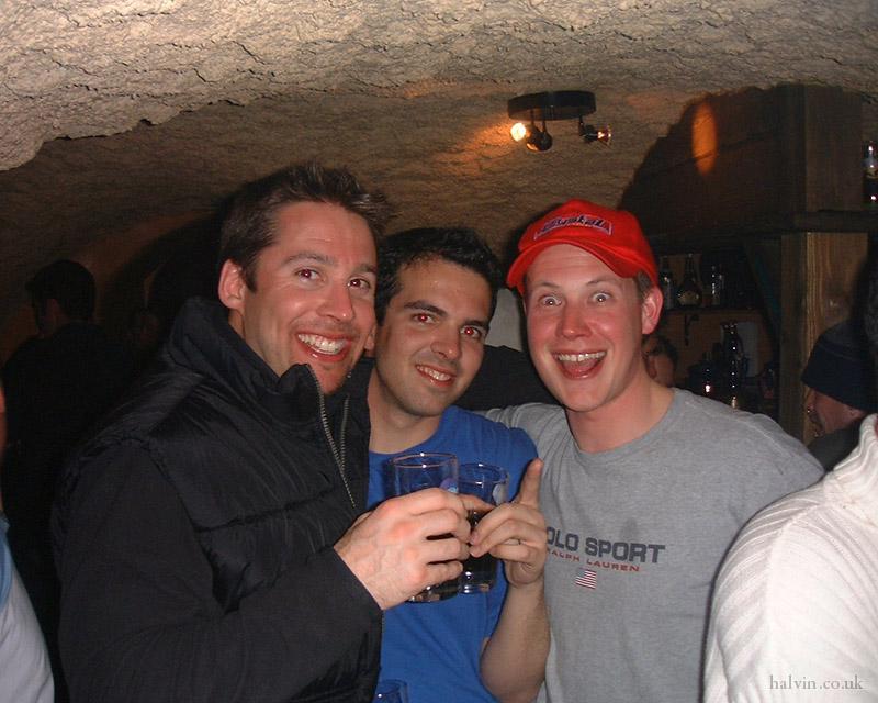 Mottaret 2002 - Nick lost that cap.  What a muppet.