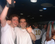 Pic: Mottaret 2002 - Largin' it in the disco carriage