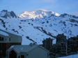 Tignes 2003 - The view over Val Claret on our last morning.