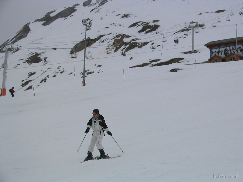 Tignes 2003 - Liz.  They're much better now!
