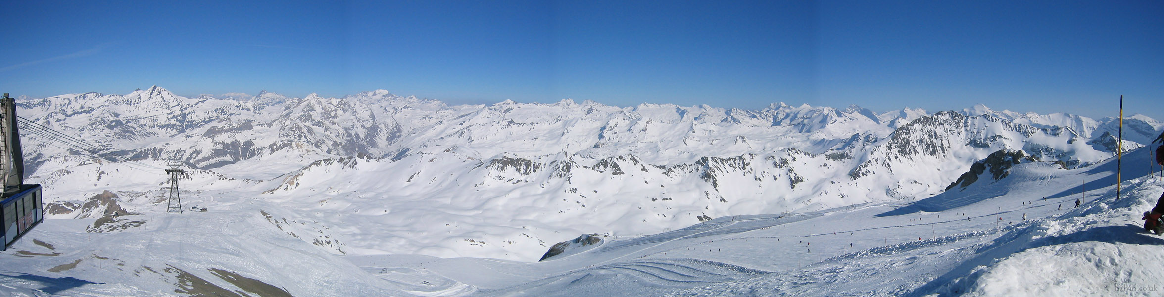 Tignes 2003 - Panorama from the top of La Grande Motte.