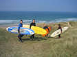 Truro, April 2003 - Surfing at Perranporth.