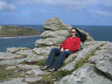 Thumbnail: The Isles of Scilly - Kate on Bryher, just above the Hell Bay hotel.