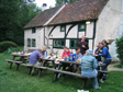 Picture: Jimbo's 30th - A Birthday Weekend in the Woods - Dinner and lots of beer at Tanners Hatch Youth Hostel