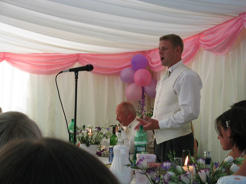 Mark and Hannah's Wedding - Jon giving the best man's speech.  Against all expectations, it was quite good.
