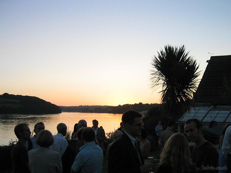 Mark and Hannah's Wedding - Sun setting over the 'posh poo' estuary.