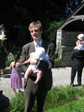 Pictures: Mark and Hannah's Wedding - Tuna Tom left holding the baby, so to speak.