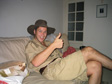 Dave's Emigration Party - Bracey as Steve Irwin.  'I'm gonna creep up on it and jam me thumb up its butthole.'