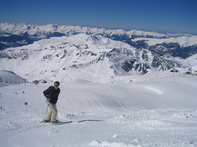 La Plagne 2005 - Andy on the Glacier de la Chiaupe.