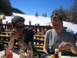 Pic: La Plagne 2005 - Pete Dove and Kate Titford.