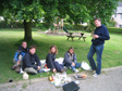 Thumbnail: Welsh Cider Festival 2005 - A spot of lunch before kick-off.