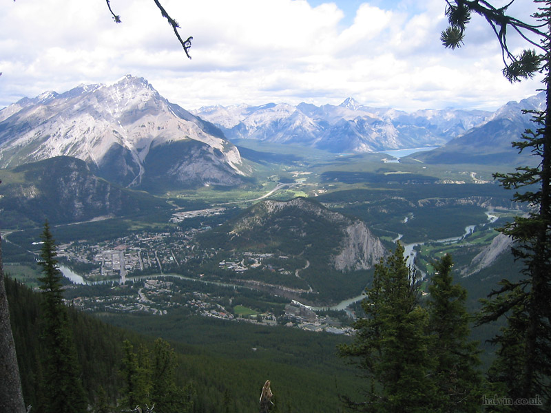 Canada 2006 - Banff from the top (almost) of Sulphur Mountain.