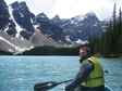 Canada 2006 - Canoeing on Moraine Lake.  Cold water!