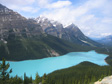Thumbnail: Canada 2006 - Trees, mountains, lake.
