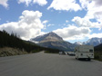 Canada 2006 - Mountain, cloud and the RV.