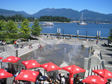 Canada 2006 - Cafe, fountain.  Still Vancouver.