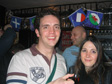 Pics: Pub Golf - Me and Ange.  Dangerously close to right-handed drinking.