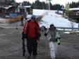 Pic: Schladming, Austria - Lee and Reena after their first full day's skiing.