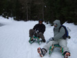 Schladming, Austria - Bill and Mukki doing a bit of sledding. They were harder to control than you'd think.