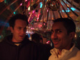 Image: Schladming, Austria - Bill and Mukki in a weird igloo bar in town.  Very smokey, like everywhere in Austria.