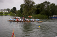 Wargrave and Shiplake 2008 - We seem to be paddling in time in this picture.  I'm sure that's chance rather than design.