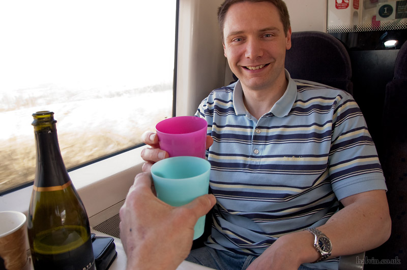 My Stag - On the train down with Best Man Stu