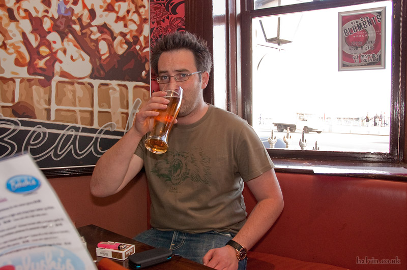 My Stag - Bill sinking the first beer