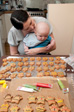 Thumbnail: Our Wedding - Ange and Charlie making gingerbread people