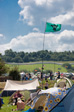 Picture: Glastonbury 2009 - The view from the Dance Field over the top of the Park.