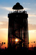 Picture: Glastonbury 2009 - The Ribbon Tower in the Park at sunset