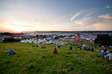 Image: Glastonbury 2009 - Sunset over the West side of the festival