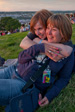 Pics: Glastonbury 2009 - Ginger B and Libby watching the sun go down.  This may have been when Ginger B popped the question.