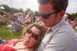 Image: Glastonbury 2009 - Mr and Mrs C at the real ale tent.  The soft-focus is because someone got a fingerprint in the rear element of the lens the night before.  It was me.