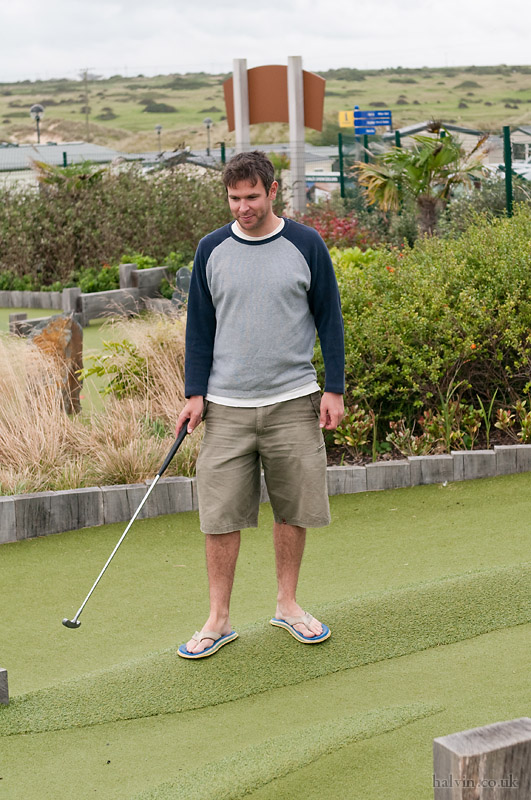 West Pentire - Playing crazy golf at Haven