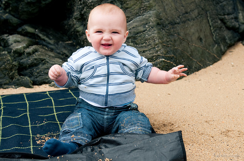 West Pentire - Charlie on Porth Joke beach