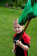 Pics: West Pentire - Noah with his new net and wetsuit
