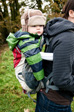Picture: Askrigg - We don't have a proper baby carrier so we put Charlie in a backpack...