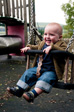 Pic: Askrigg - Charlie in the playground opposite our cottage.