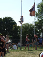 Pic: Glastonbury 2010 - A kid climbing a flagpole at the Acoustic tent.  If you're light you can get away with that kind of thing.