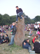 Glastonbury 2010 - MB on one of the stones