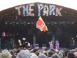 Glastonbury 2010 - Thom Yorke and Jonny Greenwood doing a secret gig at the Park.
