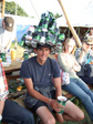 Picture: Glastonbury 2010 - A hat made of beer cans.  Stylish.