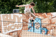 Glastonbury 2010 - A skater at Greenpeace