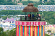 Pics: Glastonbury 2010 - The ribbon tower from the hill behind