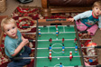 Parwich - Charlie and Ruth playing table football.